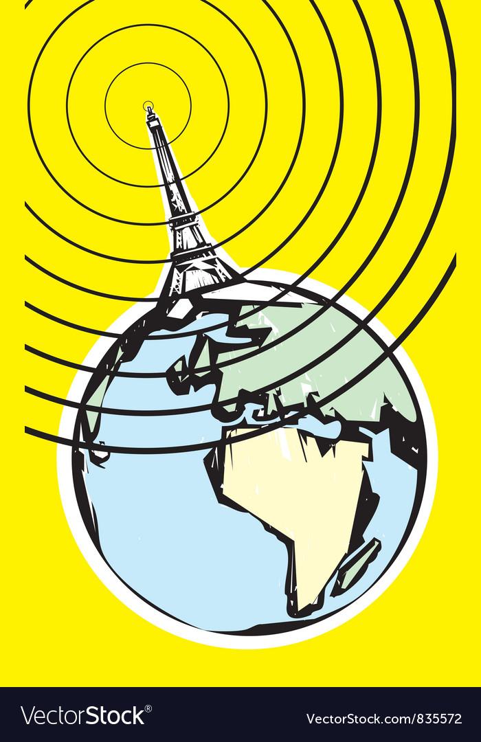 Radio broadcast earth vector | Price: 1 Credit (USD $1)