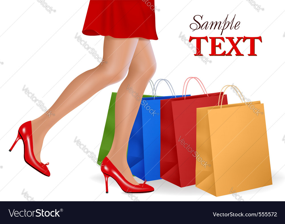 Shopping woman vector   Price: 3 Credit (USD $3)