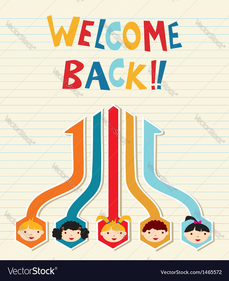 Welcome back to school student network vector | Price: 1 Credit (USD $1)