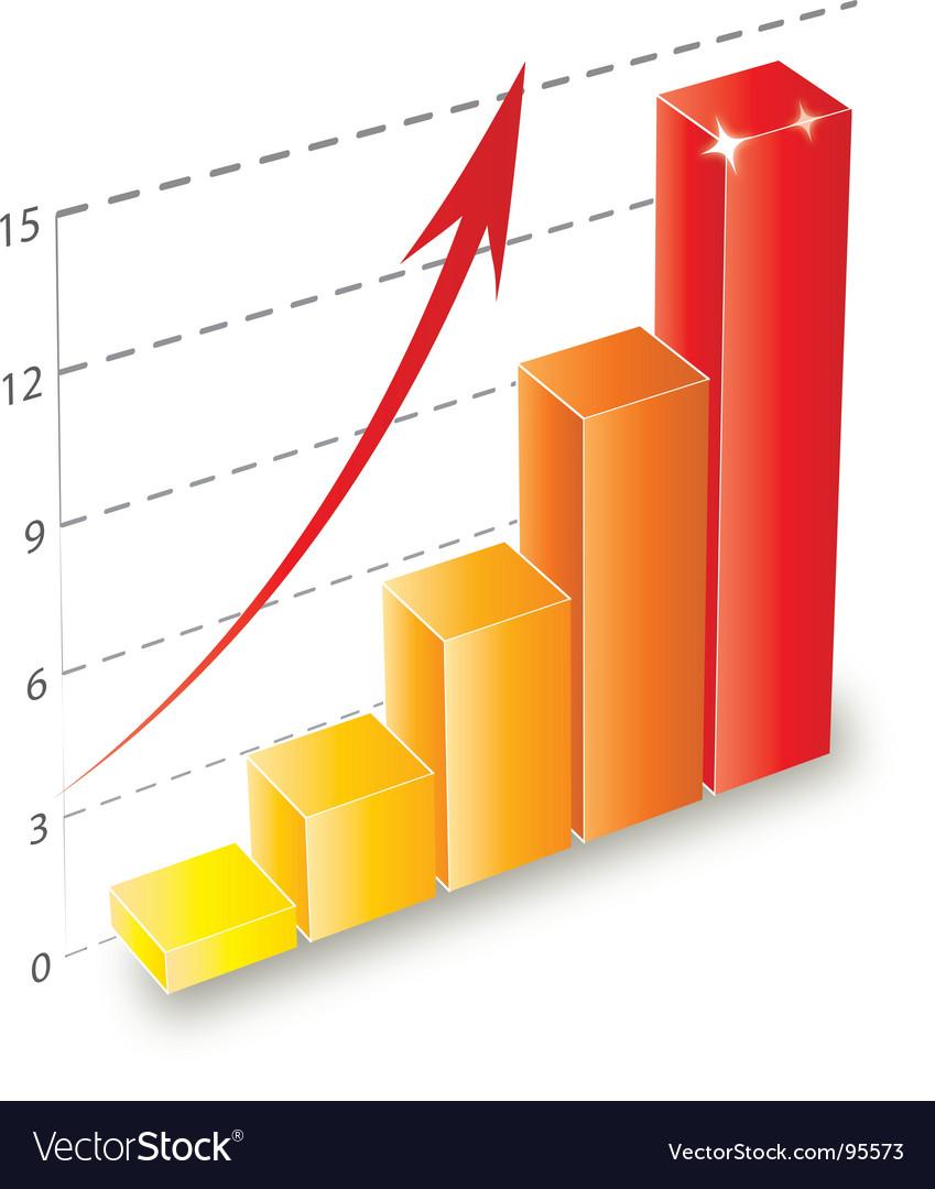 3d bar chart vector   Price: 1 Credit (USD $1)