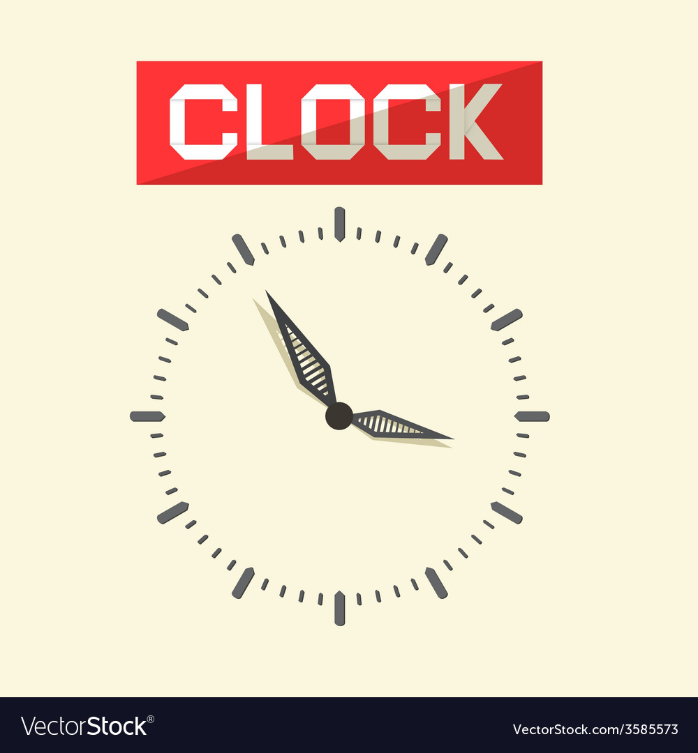 Abstract clock vector | Price: 1 Credit (USD $1)