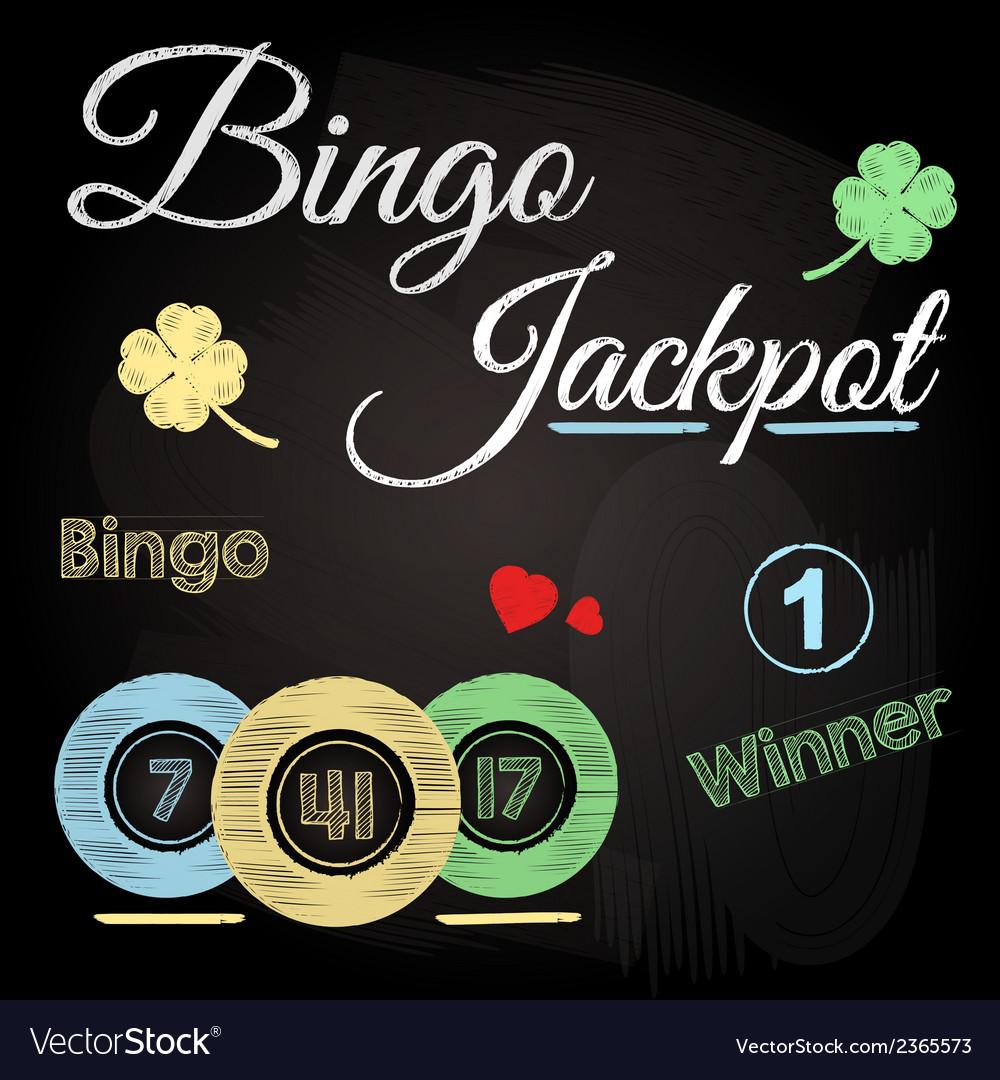 Bingo chalkboard vector | Price: 1 Credit (USD $1)