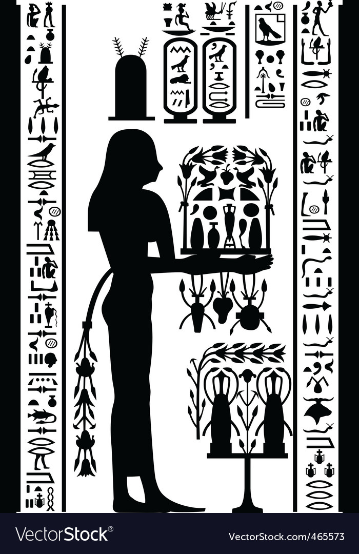 Egyptian hieroglyphs and fresco vector | Price: 1 Credit (USD $1)