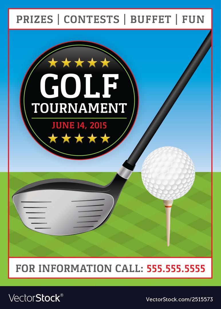 Golf tournament flyer vector | Price: 1 Credit (USD $1)