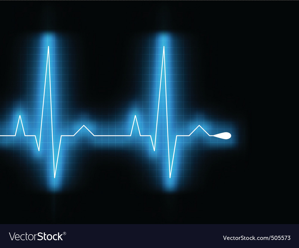 Heartbeat glow on a black monitor eps 8 vector | Price: 1 Credit (USD $1)