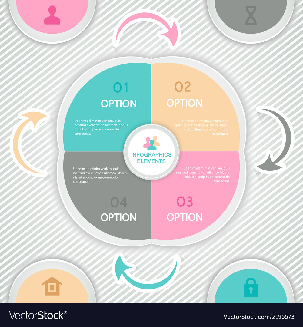 Infographics design template for business vector | Price: 1 Credit (USD $1)