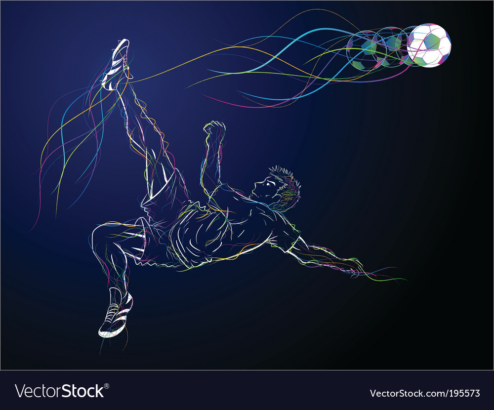 Kick sketch vector | Price: 3 Credit (USD $3)