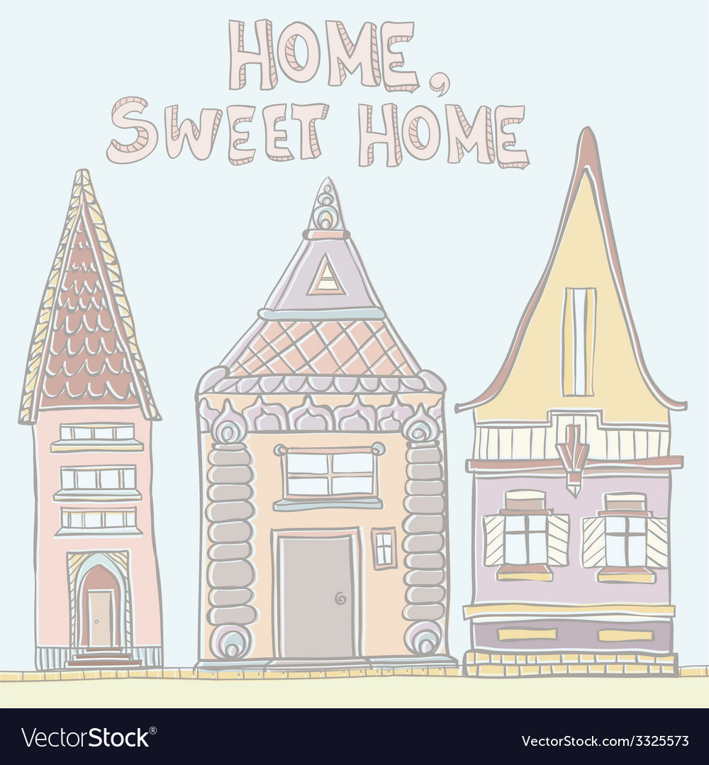Pastelhouses vector | Price: 1 Credit (USD $1)