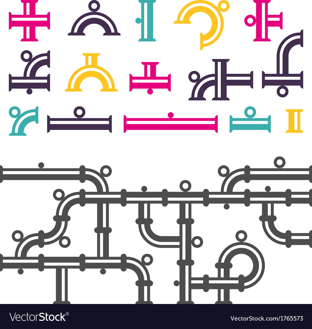 Pipeline parts vector | Price: 1 Credit (USD $1)