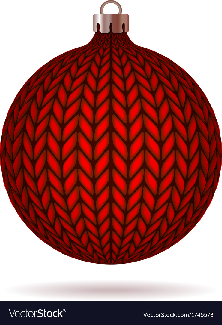 Red knitted christmas ball vector | Price: 1 Credit (USD $1)