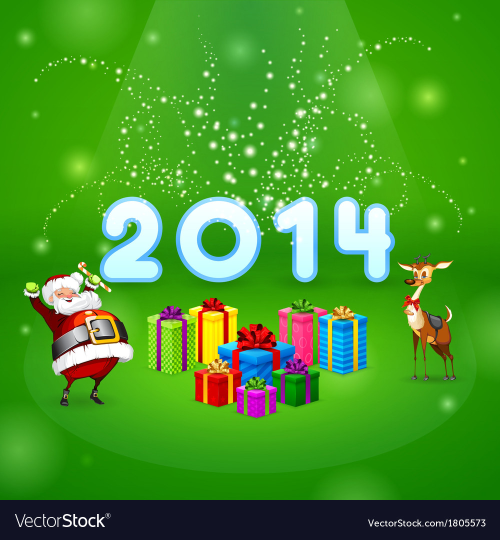 Santa and many gifts vector | Price: 1 Credit (USD $1)