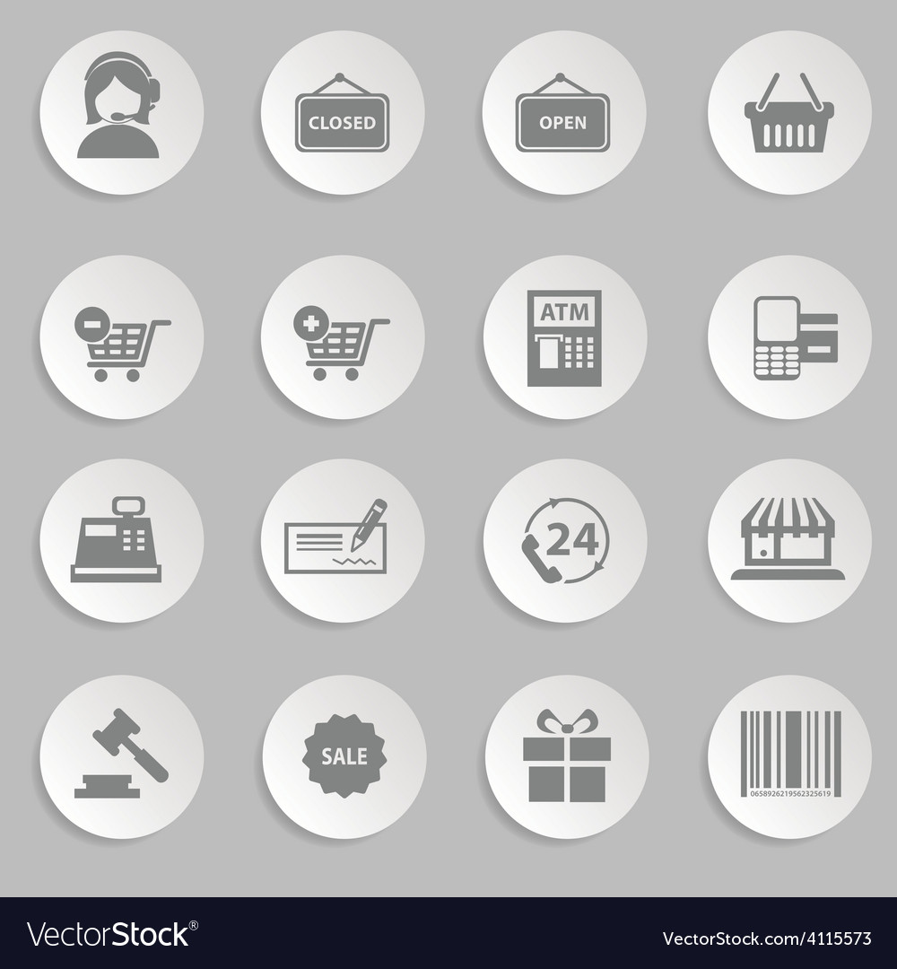 Shopping and retail icons vector   Price: 1 Credit (USD $1)