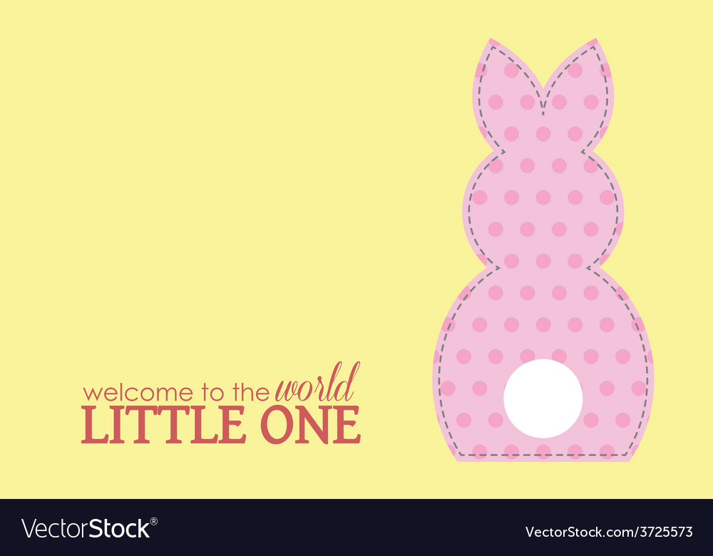 Single girl rabbit wording vector | Price: 1 Credit (USD $1)