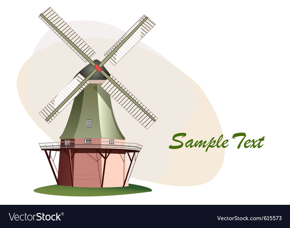 Traditional windmill vector | Price: 1 Credit (USD $1)