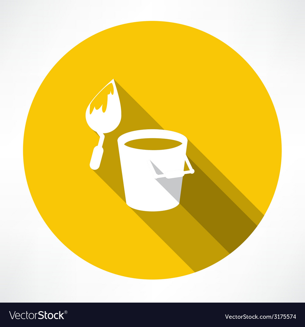 Bucket construction trowel icon vector | Price: 1 Credit (USD $1)