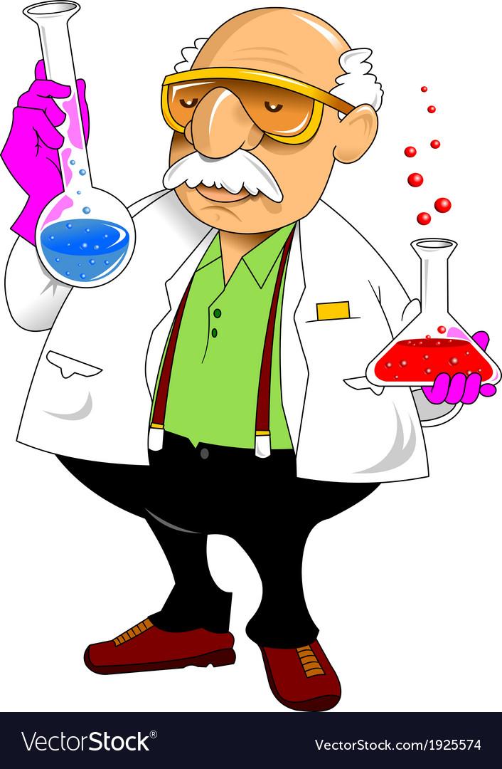 Chemistry teacher vector | Price: 1 Credit (USD $1)