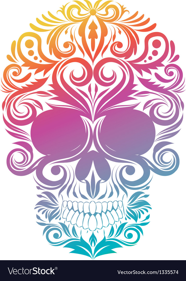 Floral decorative skull vector | Price: 1 Credit (USD $1)