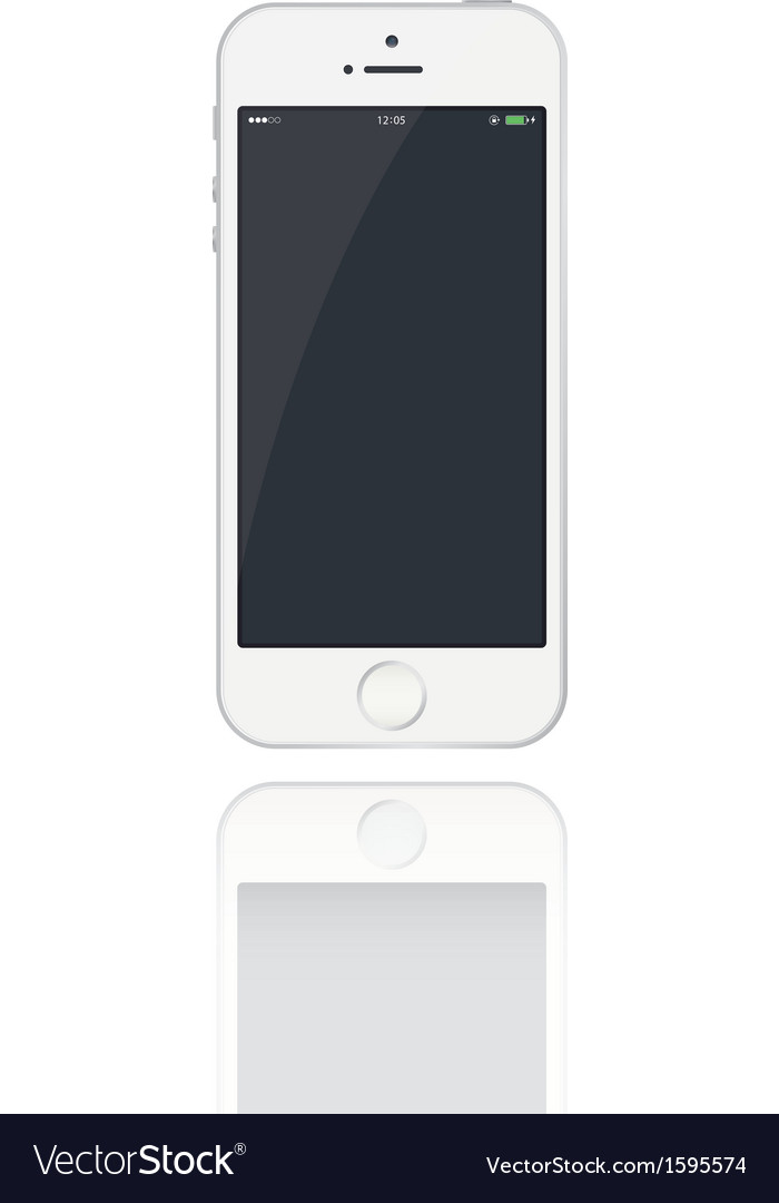 Realistic phone five vector