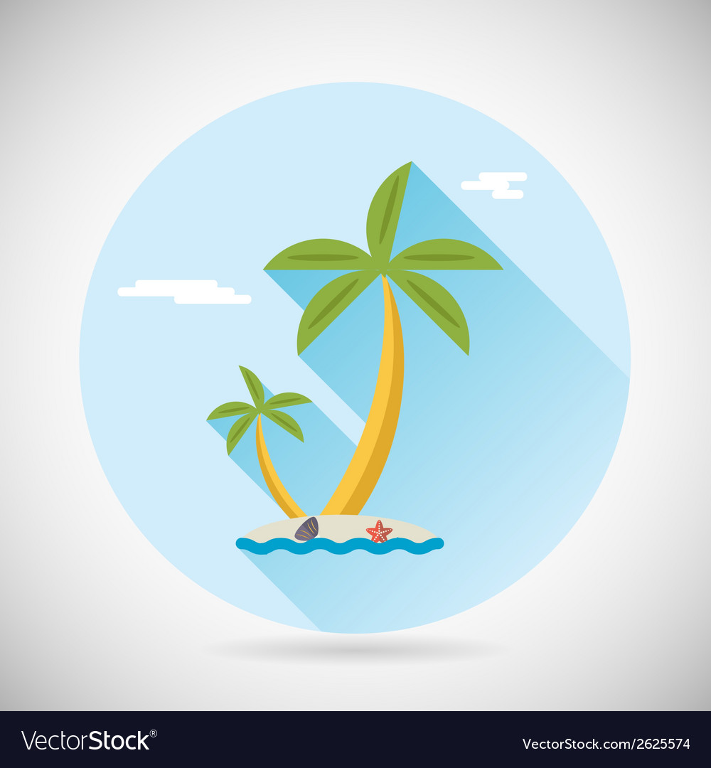 Sea beach holiday vacation symbol ocean island vector | Price: 1 Credit (USD $1)