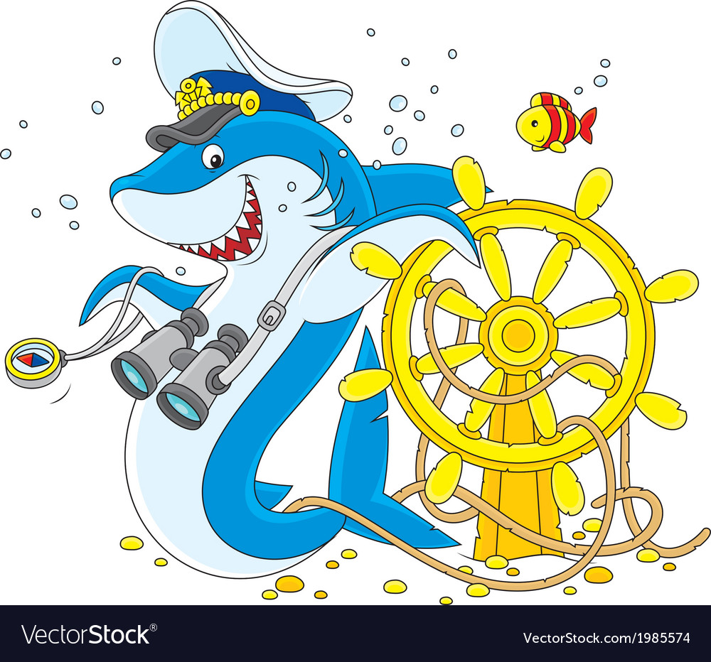 Shark captain vector | Price: 1 Credit (USD $1)