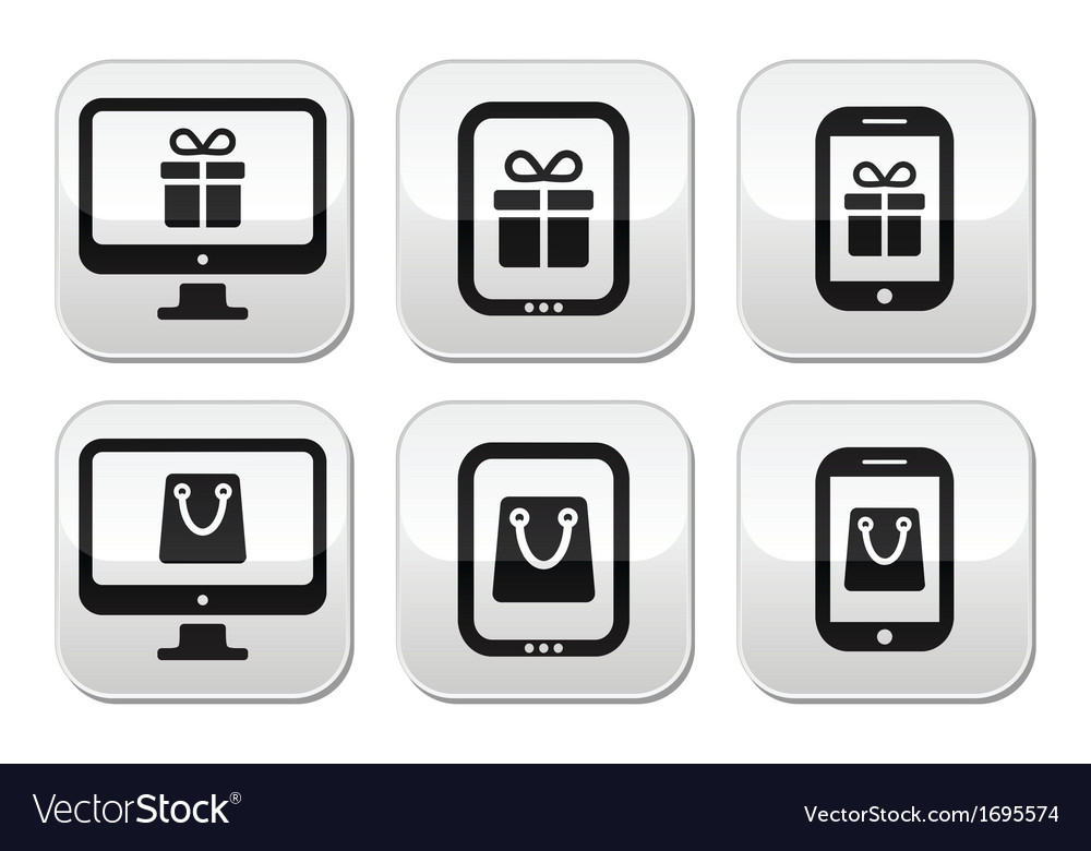 Shopping online internet shop buttons set vector | Price: 1 Credit (USD $1)