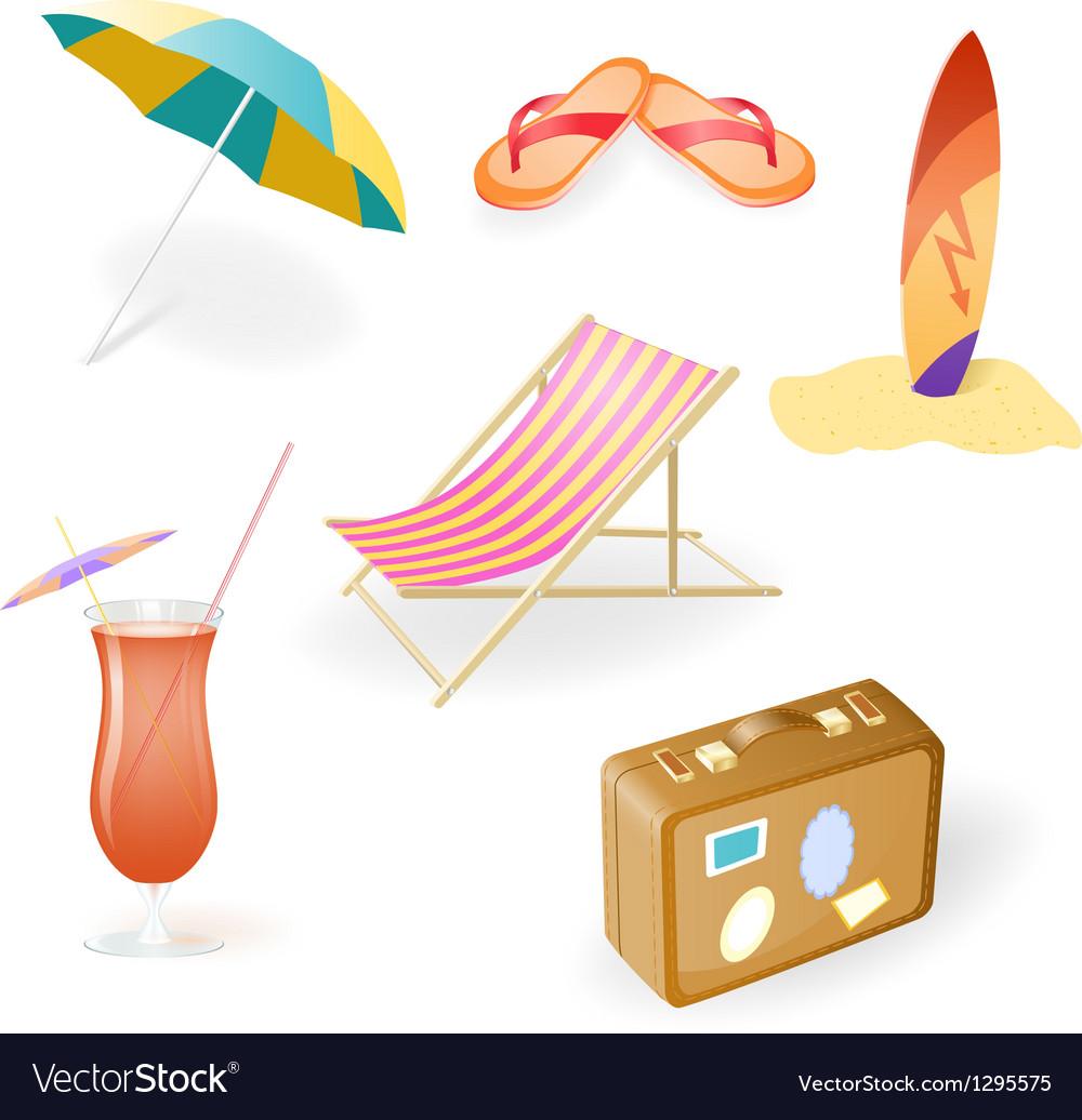 Beach set vector   Price: 3 Credit (USD $3)