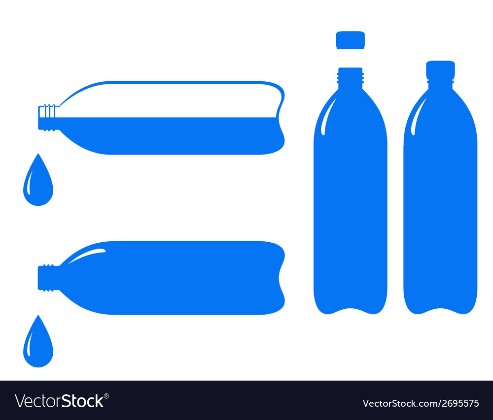 Bottle and falling water drop vector | Price: 1 Credit (USD $1)