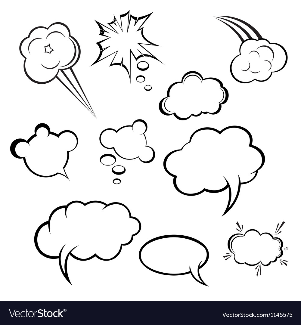 Collection of comic style speech bubbles vector | Price: 1 Credit (USD $1)