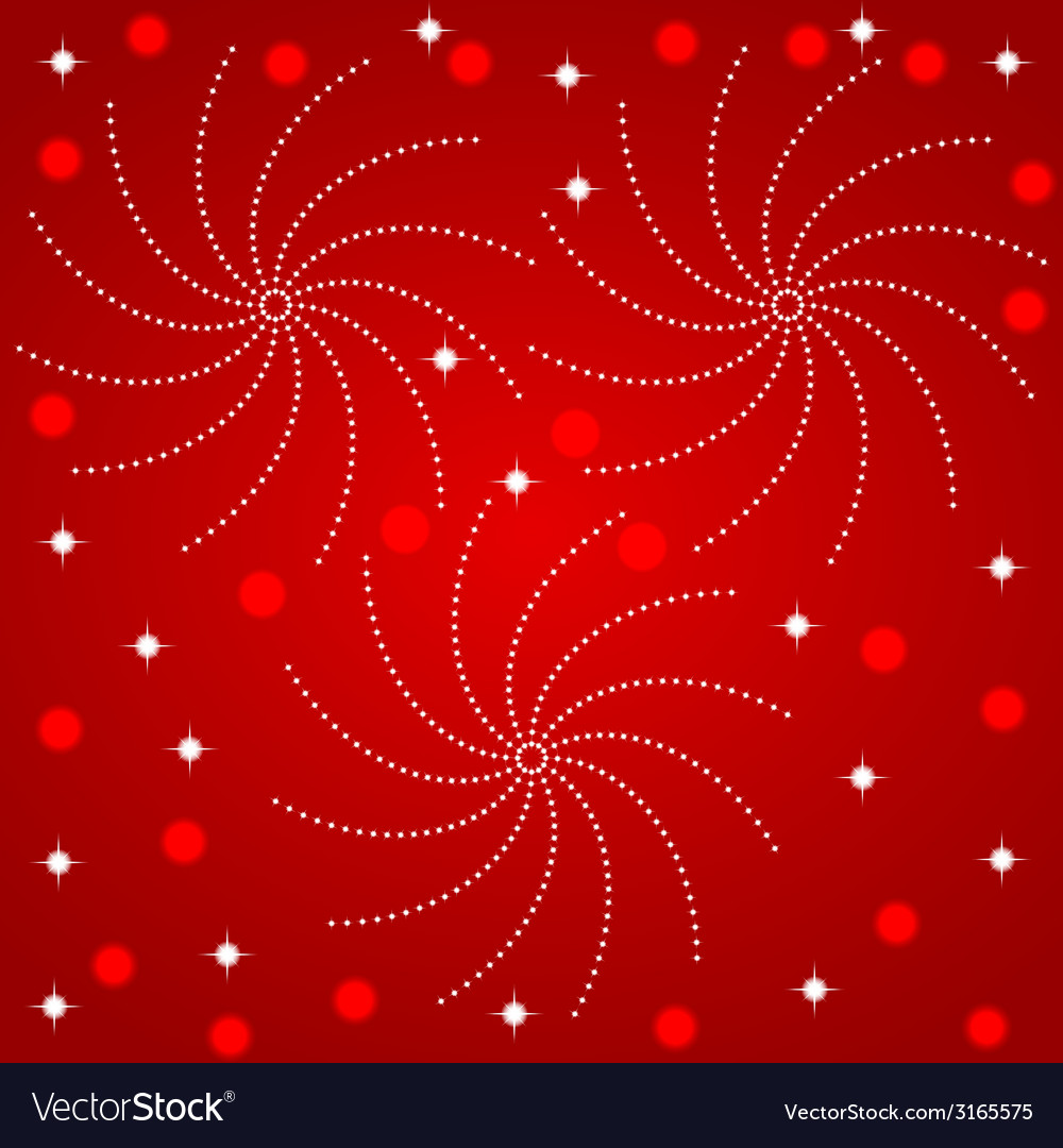 Fireworks in the red sky vector | Price: 1 Credit (USD $1)