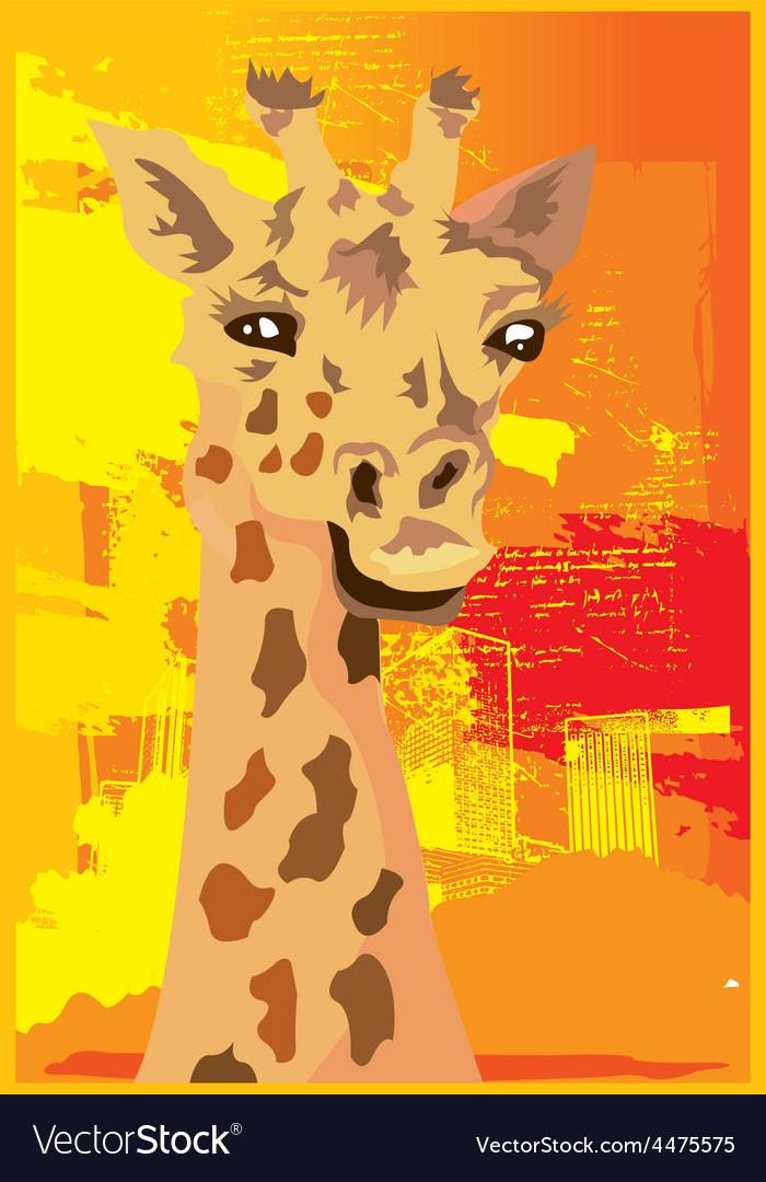 Giraffe design vector | Price: 1 Credit (USD $1)
