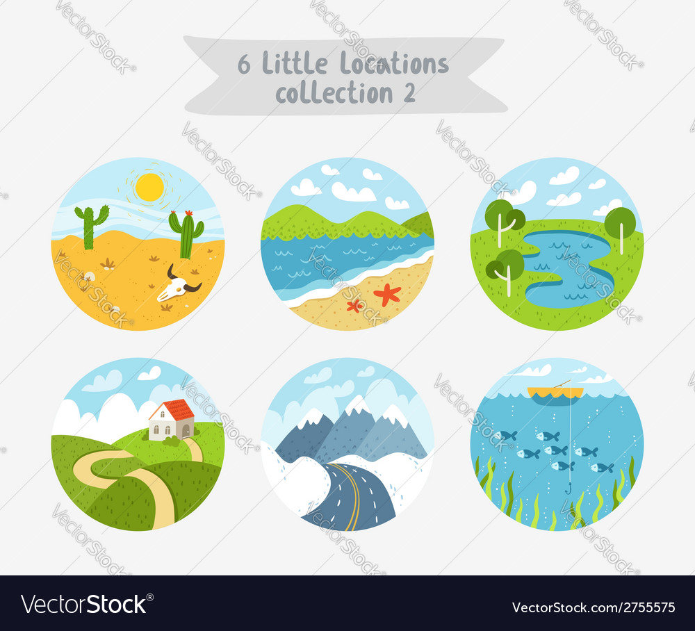 Little locations collection 2 vector | Price: 3 Credit (USD $3)