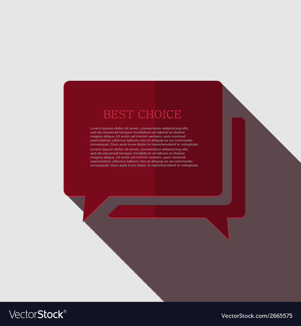 Modern bubble speech icon on gray vector | Price: 1 Credit (USD $1)