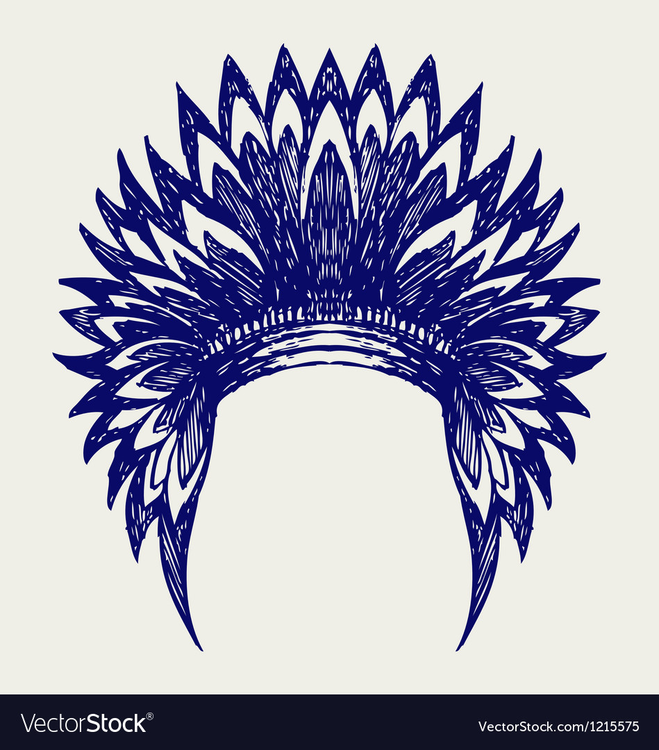 Native american indian headdress vector | Price: 1 Credit (USD $1)