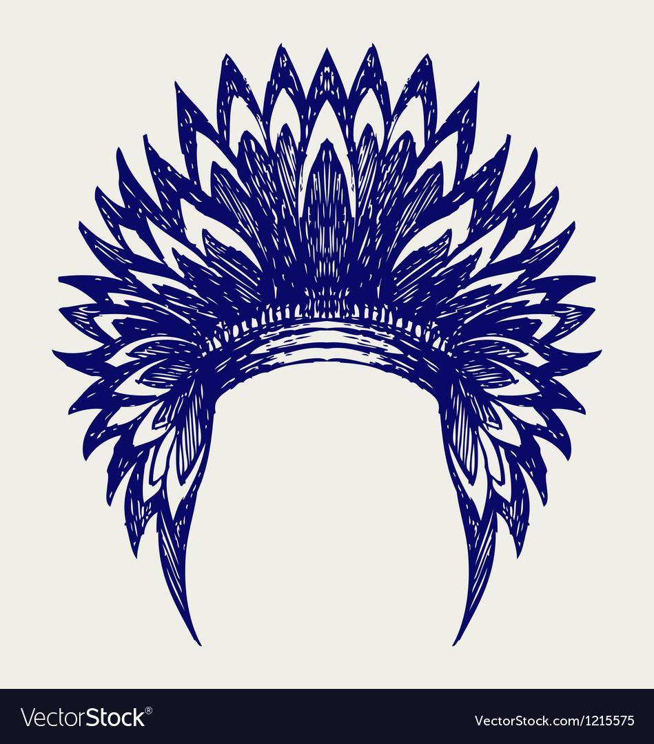 Native american indian headdress vector | Price: 1 Credit (USD $1)
