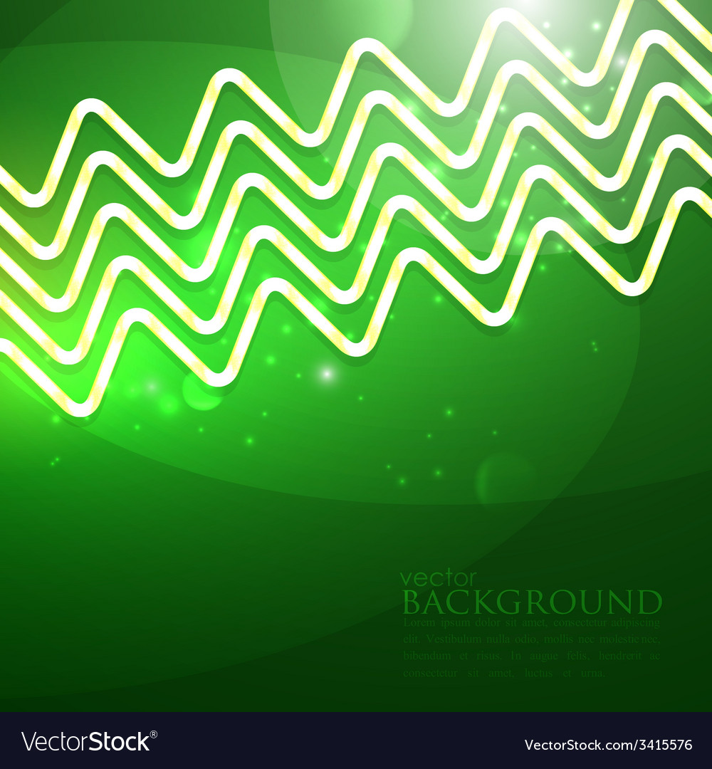 Abstract shiny background with green zigzags vector | Price: 1 Credit (USD $1)