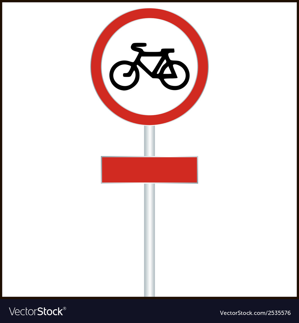 Bike track sign road sign - vector | Price: 1 Credit (USD $1)