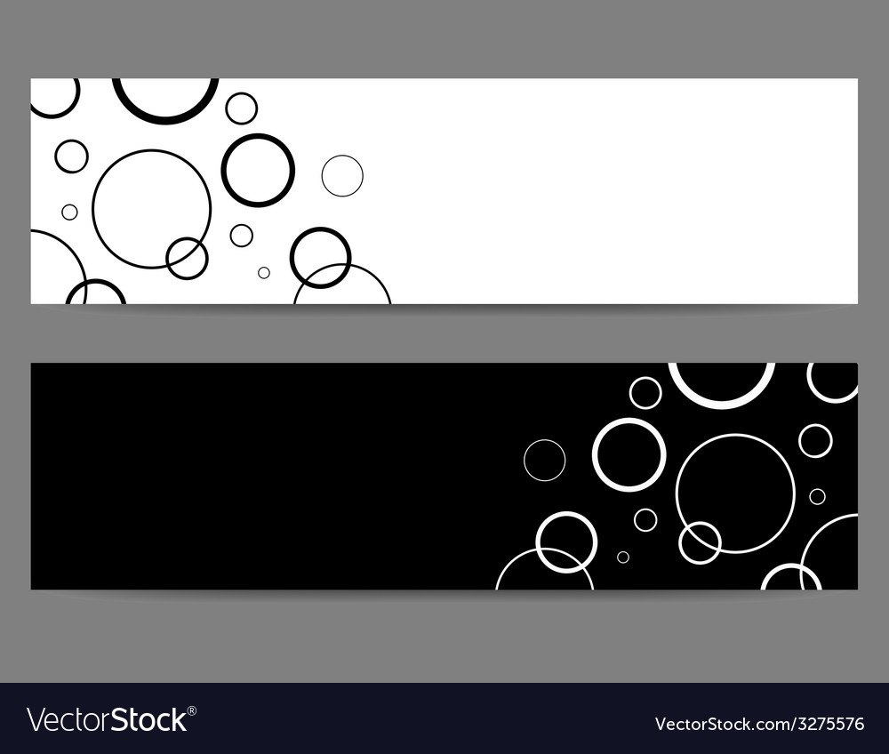 Black and white banners with circles vector | Price: 1 Credit (USD $1)
