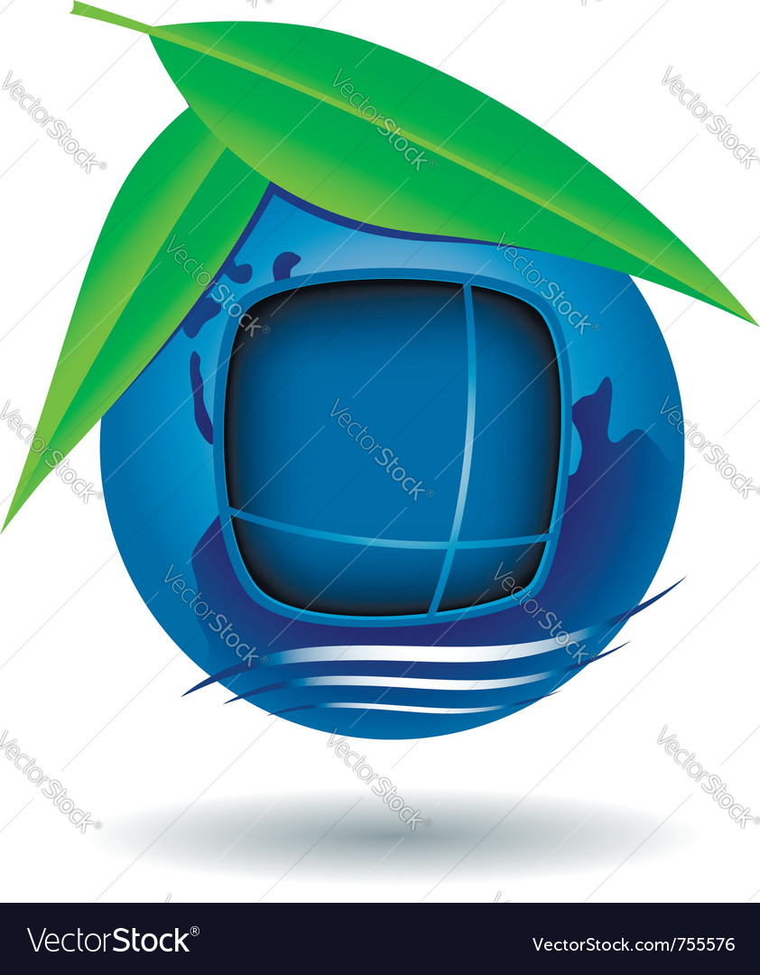 Globe house icon vector | Price: 1 Credit (USD $1)