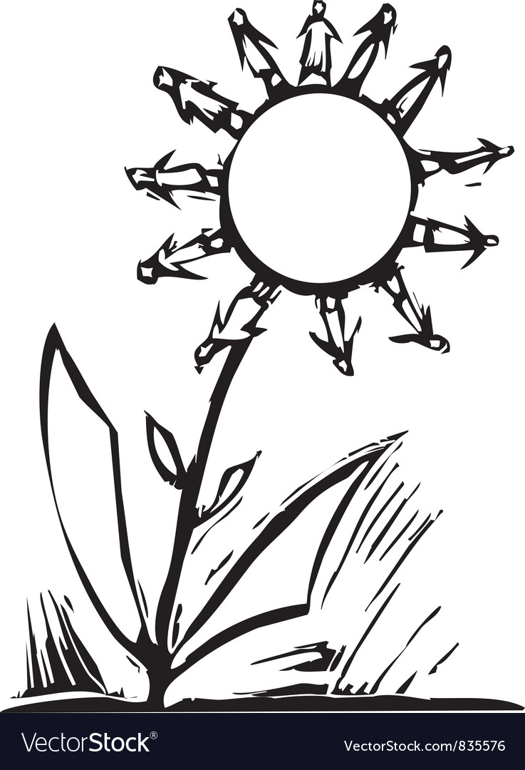 Human flower vector | Price: 1 Credit (USD $1)
