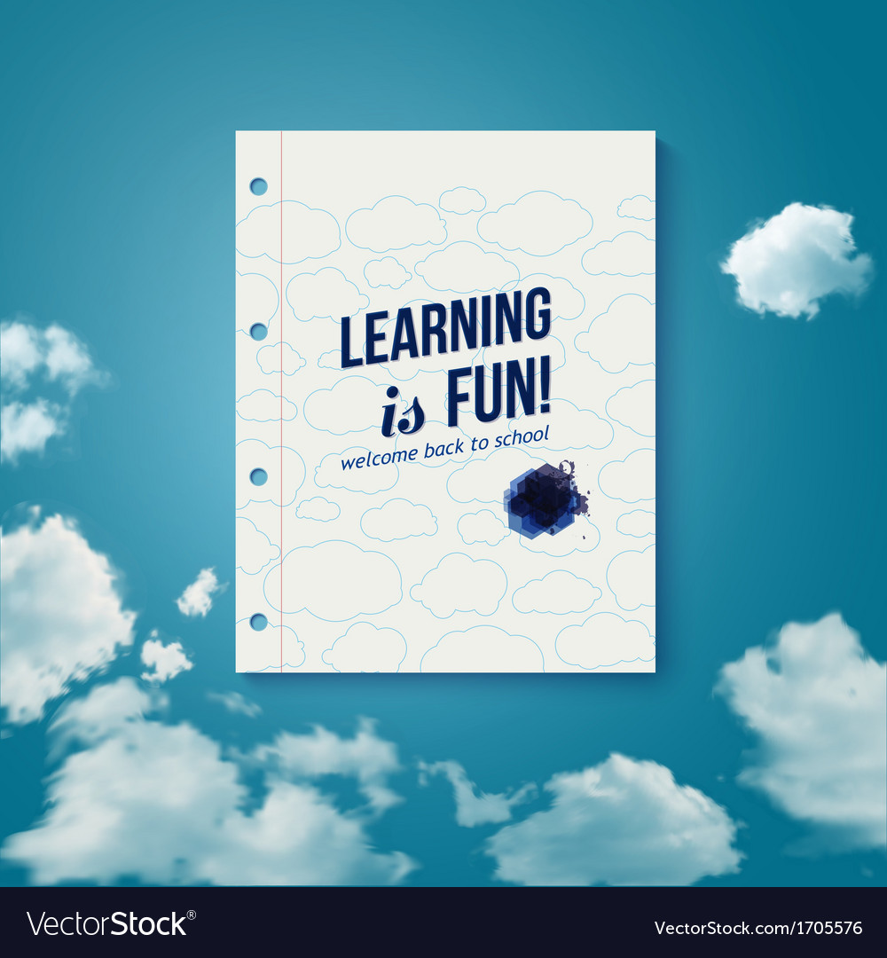 Learning is fun motivating poster vector | Price: 1 Credit (USD $1)