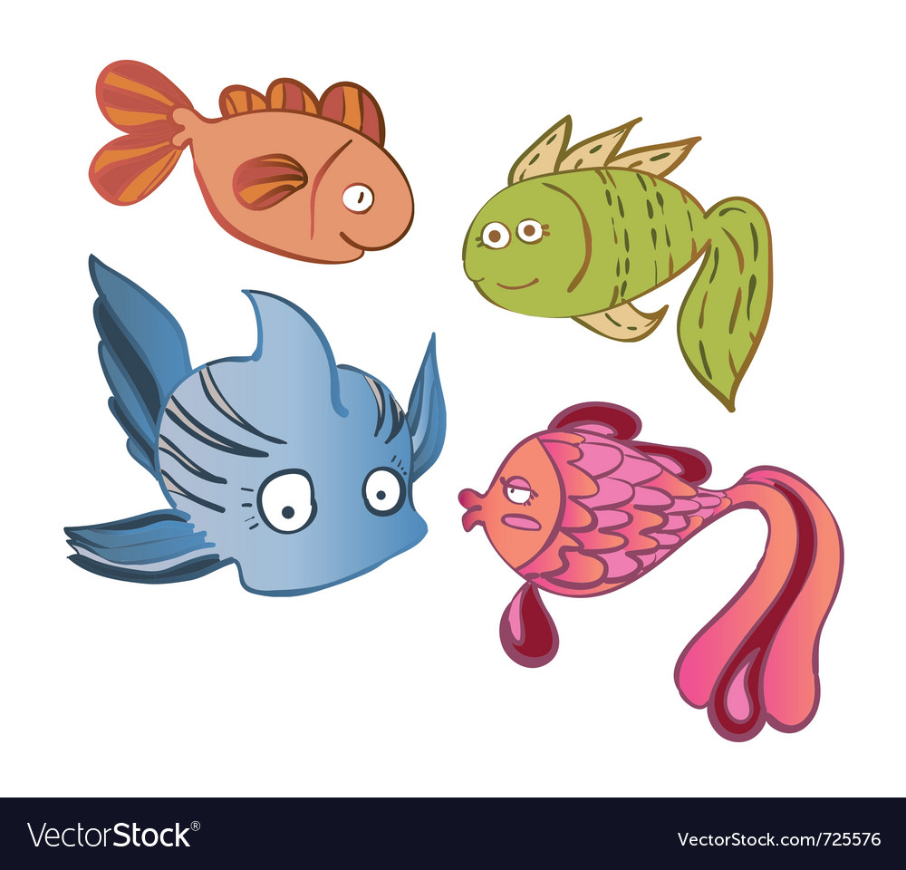 Little emotional fish vector | Price: 1 Credit (USD $1)