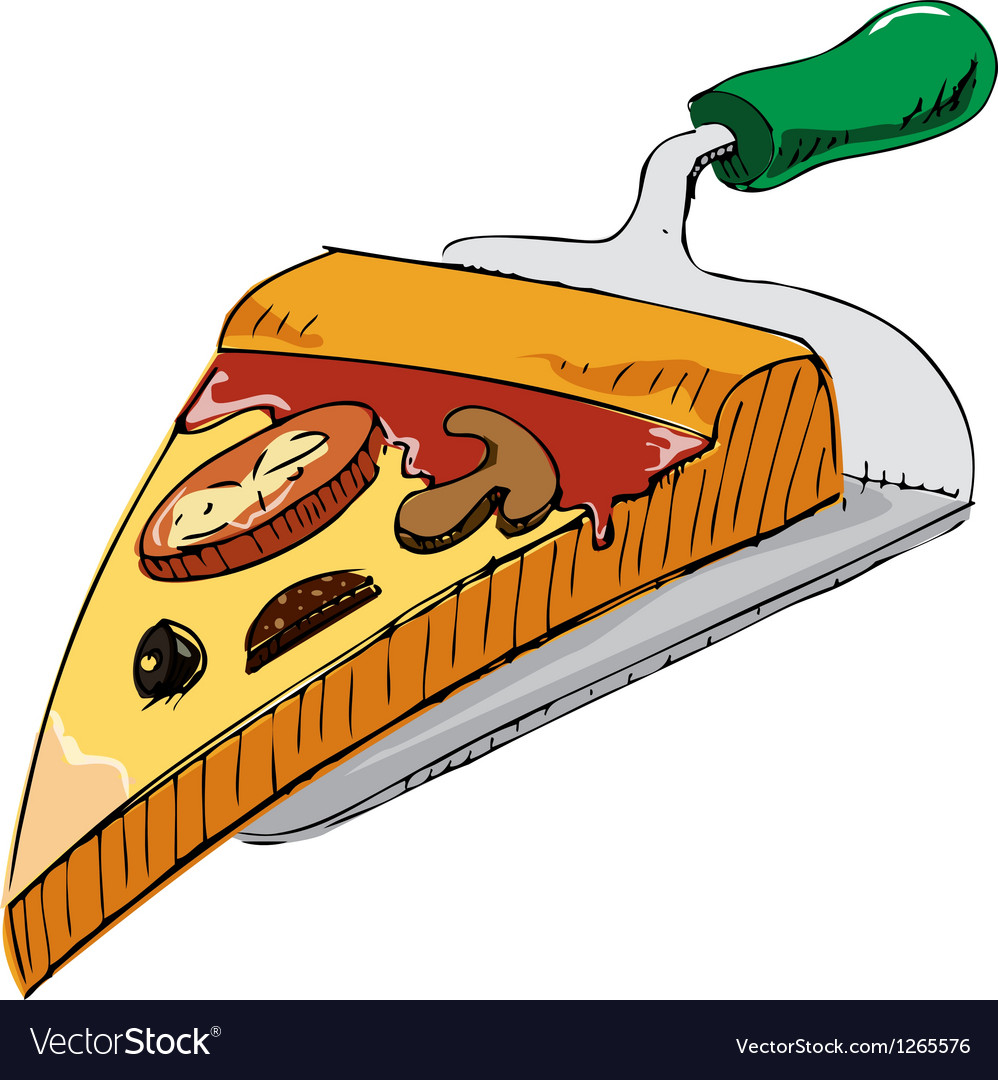 Pizza piece icon vector | Price: 1 Credit (USD $1)