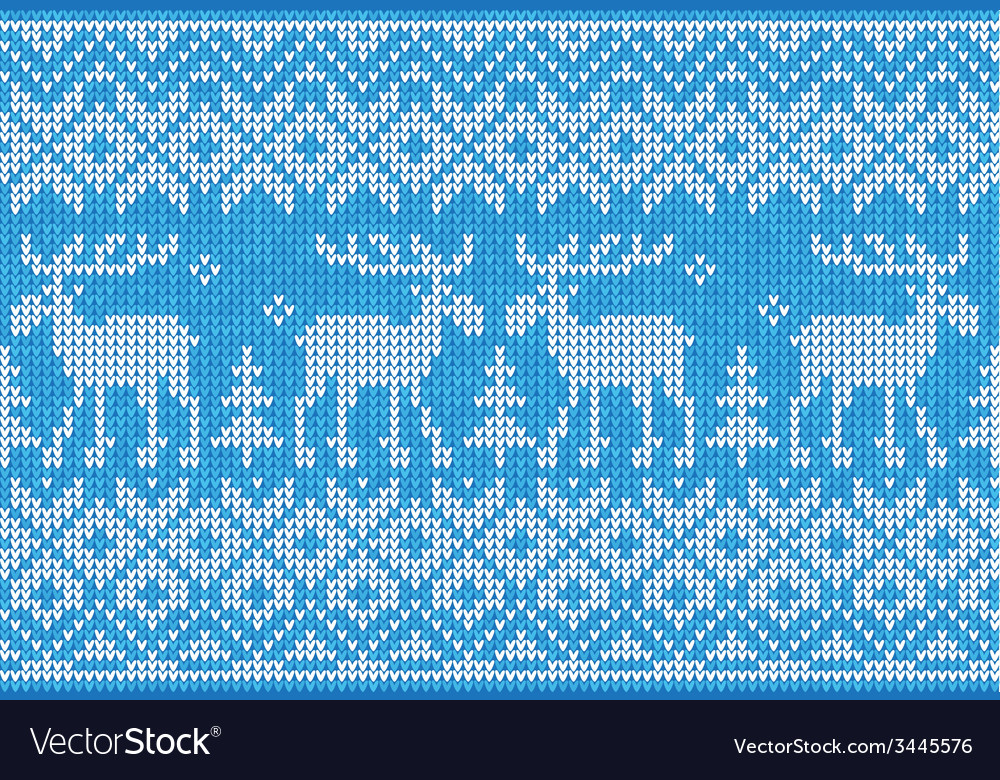 Scandinavian style seamless knitted pattern with vector | Price: 1 Credit (USD $1)