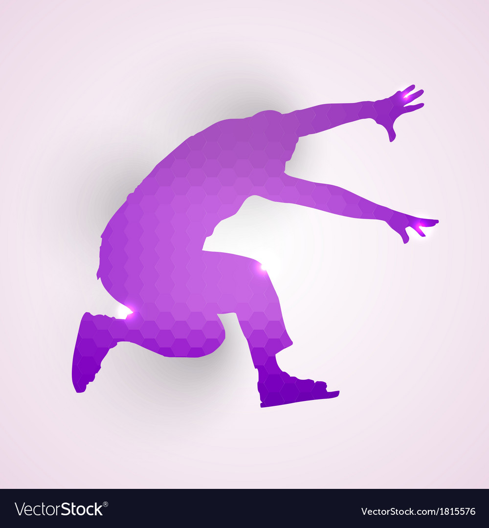 Silhouette of jumping man vector | Price: 1 Credit (USD $1)