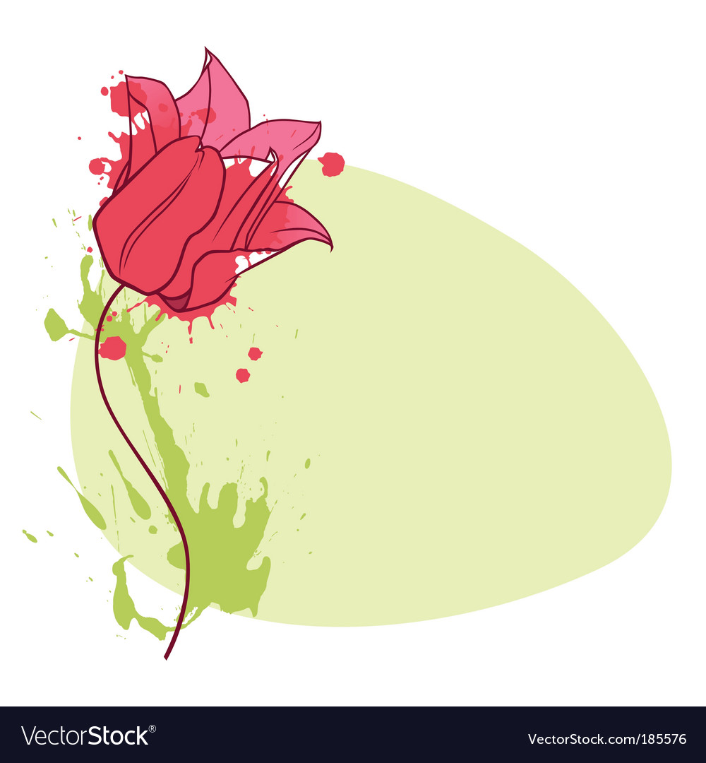Tulip vignette vector | Price: 1 Credit (USD $1)