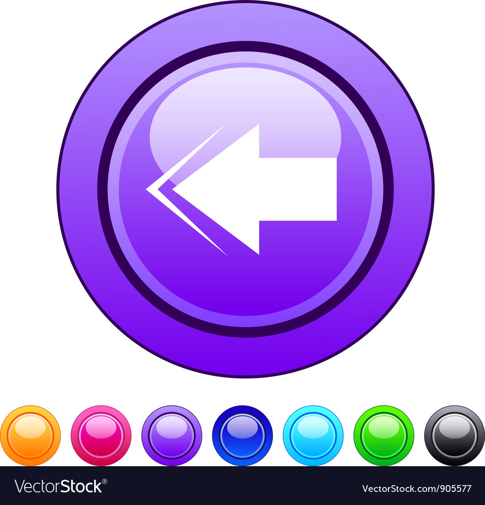 Back arrow circle button vector | Price: 1 Credit (USD $1)