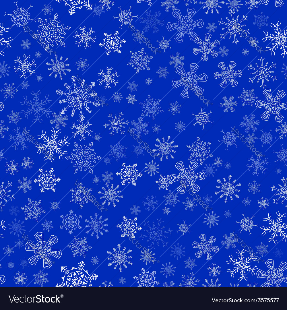 Blue seamless christmas pattern with different vector | Price: 1 Credit (USD $1)