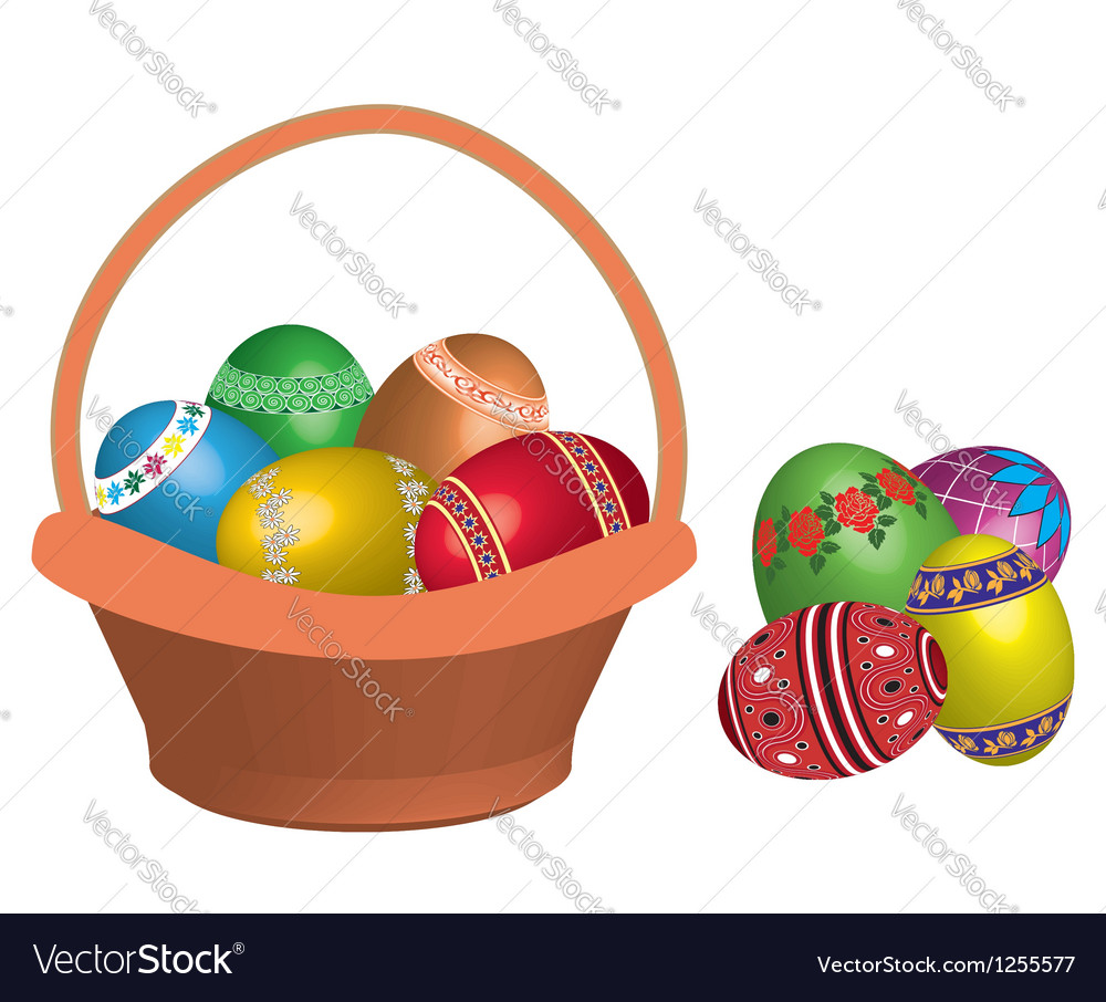 Egg in basket vector   Price: 1 Credit (USD $1)