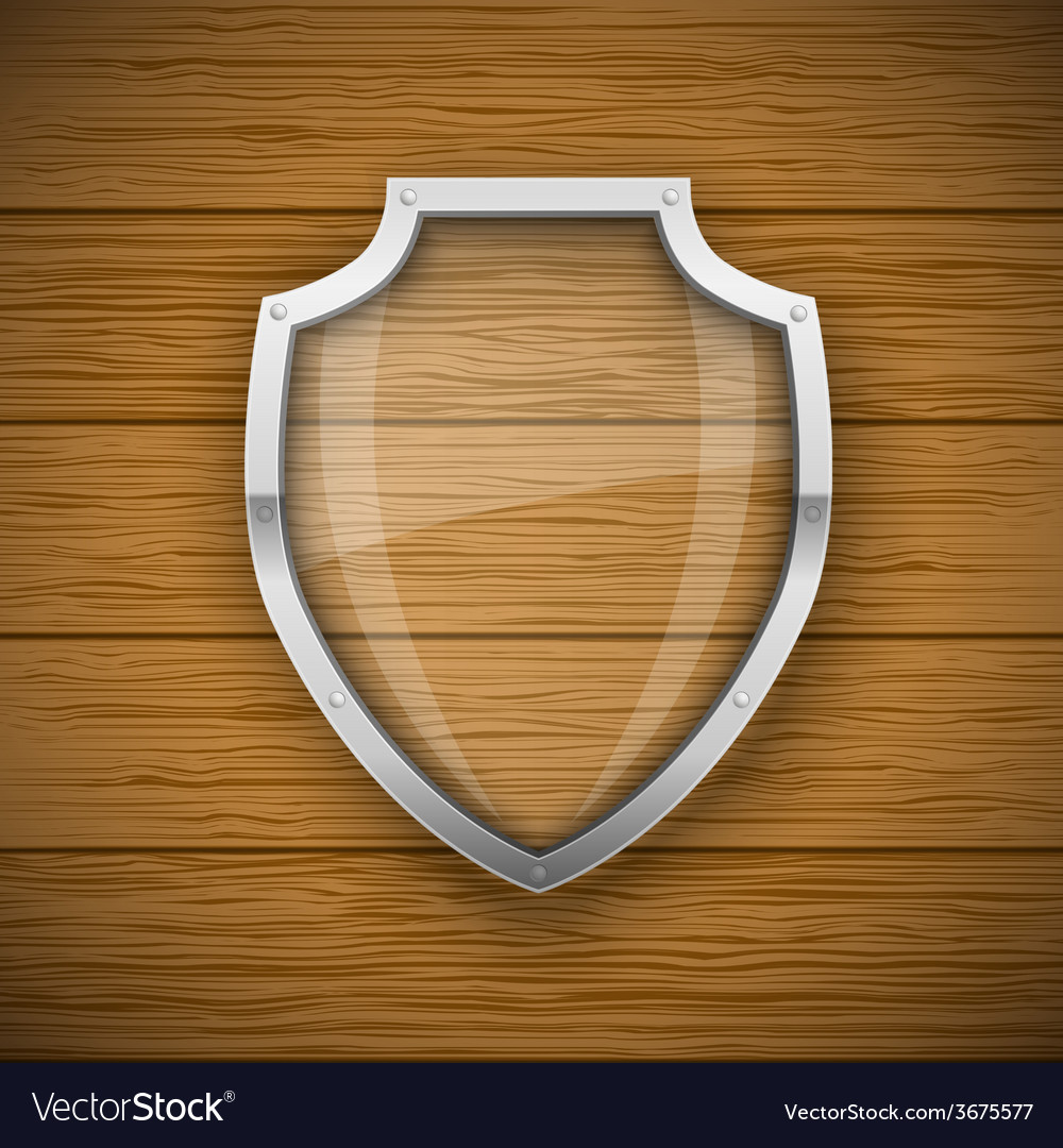 Glass shield vector | Price: 1 Credit (USD $1)