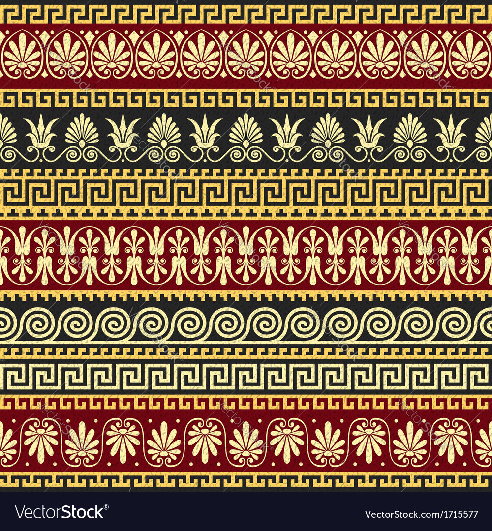 Golden greek ornament meander vector | Price: 1 Credit (USD $1)